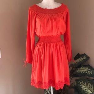 Abercrombie & Fitch Dress Lace Knit Crochet M NWT